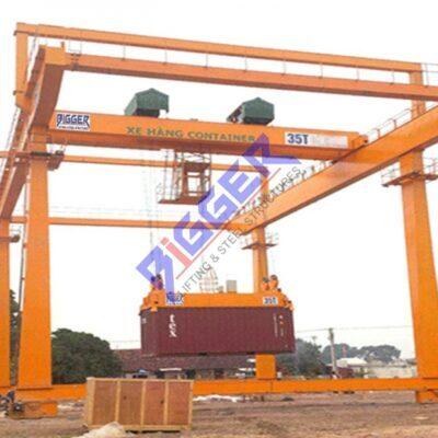 Cổng trục container lắp đầy đủ 4 loại biến tần